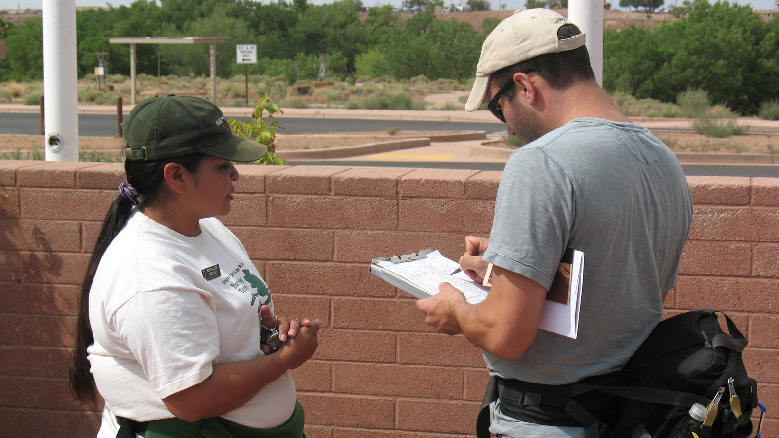 PSU interviewers collecting data in the field